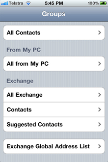 "Figure: Bad example - I can't see how many contacts I have on ""contact groups"" screen :("